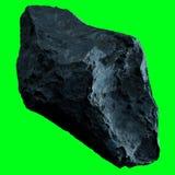 Σκοτεινό asteroid βράχου απομόνωσε την τρισδιάστατη απόδοση Στοκ εικόνες με δικαίωμα ελεύθερης χρήσης
