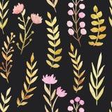 σκοτεινό floral πρότυπο άνευ ρα διανυσματική απεικόνιση