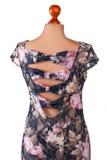 Σκοτεινό floral φόρεμα με τις διακοπές Στοκ Εικόνες