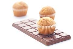 σκοτεινό muffin σοκολάτας Στοκ Εικόνα