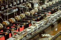 Σκουλήκια μεταξιού που επεξεργάζονται τη μηχανή στη Σαγκάη Στοκ Εικόνες