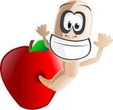 σκουλήκι μήλων Στοκ εικόνες με δικαίωμα ελεύθερης χρήσης