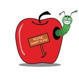 σκουλήκι σπιτιών μήλων Στοκ Εικόνες