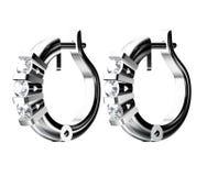 σκουλαρίκια διαμαντιών Στοκ Εικόνα