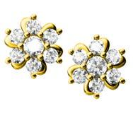 σκουλαρίκια διαμαντιών Στοκ Εικόνες