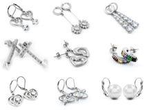 Σκουλαρίκια κοσμήματος - για τις γυναίκες - ανοξείδωτο Στοκ Φωτογραφία