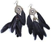 Σκουλαρίκια με τα φτερά στοκ φωτογραφία με δικαίωμα ελεύθερης χρήσης