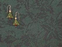 σκουλαρίκια Χριστουγέ&n Στοκ φωτογραφία με δικαίωμα ελεύθερης χρήσης