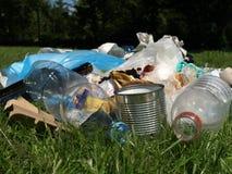 Σκουπίδια στο δάσος στοκ εικόνες