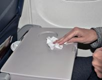 Σκουπίζοντας βρώμικος δίσκος αεροπλάνων στοκ εικόνα