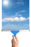 Σκουπίστε το γυαλί στοκ φωτογραφία
