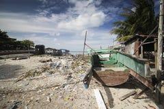 σκουπίδια παραλιών Στοκ Φωτογραφία