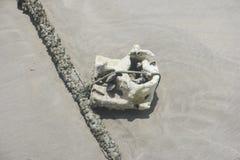 Σκουπίδια στην άμμο Στοκ Φωτογραφίες