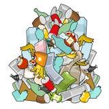 Σκουπίδια σωρών Σωρός απορριμάτων που απομονώνεται Απορρίμματα σωρών απορρίματα backgr ελεύθερη απεικόνιση δικαιώματος