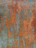 Σκουριά στην επιφάνεια μετάλλων που καλύπτεται με το χρώμα Στοκ φωτογραφία με δικαίωμα ελεύθερης χρήσης