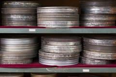 Σκουριασμένα μεταλλικά κουτιά ταινιών Στοκ Εικόνες