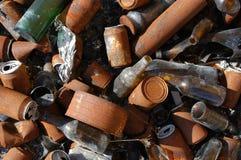 Σκουριασμένα δοχεία σύστασης Στοκ Εικόνα