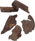 Σκουριασμένα τεμάχια μετάλλων Στοκ Φωτογραφίες