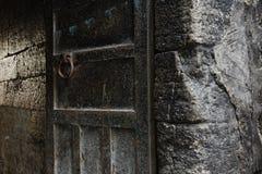 Σκουριασμένα υπόβαθρα τοίχων μετάλλων και πετρών Στοκ Εικόνες