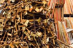 Σκουριασμένα υλικά σκαλωσιάς Στοκ Φωτογραφίες