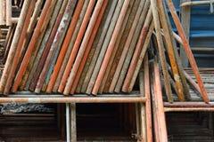 Σκουριασμένα υλικά σκαλωσιάς Στοκ εικόνα με δικαίωμα ελεύθερης χρήσης
