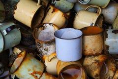 Σκουριασμένα φλυτζάνια Στοκ εικόνες με δικαίωμα ελεύθερης χρήσης