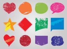 Σκουριασμένες φυσαλίδες λέξεων grunge ζωηρόχρωμες, δημιουργικό διάνυσμα Στοκ εικόνα με δικαίωμα ελεύθερης χρήσης