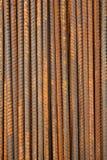 Σκουριασμένη ανασκόπηση ράβδων μετάλλων Στοκ εικόνα με δικαίωμα ελεύθερης χρήσης