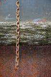 Σκουριασμένη αλυσίδα στοκ εικόνες