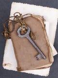 Σκουριασμένη βασική, παλαιά andempty φωτογραφία βιβλίων Στοκ Εικόνα