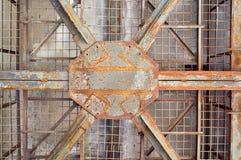 σκουριασμένη δομή μετάλλ& Στοκ φωτογραφίες με δικαίωμα ελεύθερης χρήσης