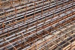 Σκουριασμένη ενίσχυση ράβδων χάλυβα Στοκ φωτογραφία με δικαίωμα ελεύθερης χρήσης
