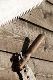 Σκουριασμένη λεπίδα πριονιών Στοκ φωτογραφίες με δικαίωμα ελεύθερης χρήσης