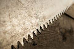 Σκουριασμένη λεπίδα πριονιών Στοκ Εικόνες