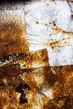 σκουριασμένη επιφάνεια μετάλλων Στοκ Εικόνες