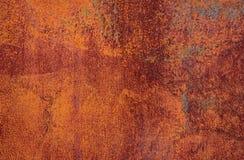 Σκουριασμένη καφετιά σύσταση σιδήρου, παλαιός φράκτης με το χρώμα αποφλοίωσης Κατασκευασμένη ταπετσαρία για το σχέδιο στοκ φωτογραφίες