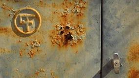 Σκουριασμένη κυανή πόρτα Στοκ φωτογραφίες με δικαίωμα ελεύθερης χρήσης