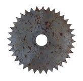 Σκουριασμένη κυκλική λεπίδα πριονιών Στοκ εικόνα με δικαίωμα ελεύθερης χρήσης