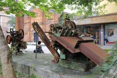 Σκουριασμένη μηχανή στο redtory δημιουργικό κήπο, guangzhou, Κίνα Στοκ Εικόνες