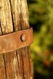 Σκουριασμένη ξύλινη βίδα Στοκ Εικόνα