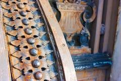 Σκουριασμένη παλαιά διακόσμηση σιδήρου Στοκ Εικόνα