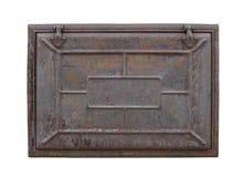 Σκουριασμένη πόρτα μετάλλων που απομονώνεται στοκ φωτογραφία με δικαίωμα ελεύθερης χρήσης