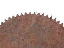 Σκουριασμένη στρογγυλή λεπίδα πριονιών που απομονώνεται Στοκ φωτογραφίες με δικαίωμα ελεύθερης χρήσης
