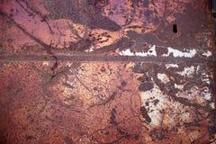 σκουριασμένη σύσταση επιφάνειας μεταλλικών πιάτων σιδήρου ανασκόπησης Στοκ εικόνες με δικαίωμα ελεύθερης χρήσης