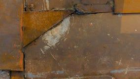 Σκουριασμένη σύσταση μεταλλικών πιάτων, υπόβαθρο Στοκ φωτογραφία με δικαίωμα ελεύθερης χρήσης