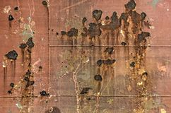 Σκουριασμένη φλούδα σκαφών στοκ εικόνες
