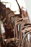 Σκουριασμένοι ξύλινοι λειτουργώντας σφιγκτήρες στοκ φωτογραφίες με δικαίωμα ελεύθερης χρήσης
