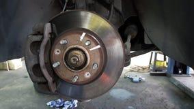 Σκουριασμένος δίσκος φρένων ροδών αυτοκινήτων Στοκ φωτογραφία με δικαίωμα ελεύθερης χρήσης