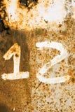 Σκουριασμένος αριθμός 12 Στοκ φωτογραφία με δικαίωμα ελεύθερης χρήσης