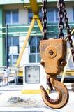 Σκουριασμένος γάντζος γερανών Στοκ φωτογραφία με δικαίωμα ελεύθερης χρήσης